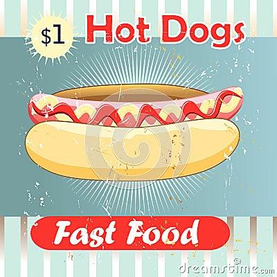 Delicious hot dog