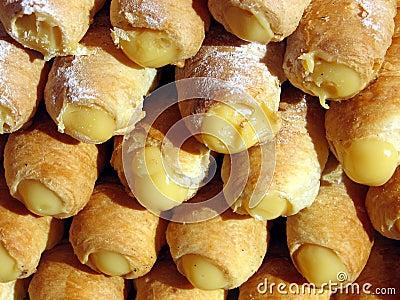 Delicious Italian pastries with cream