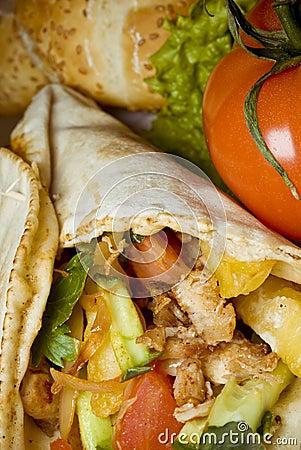 A delicious kebab