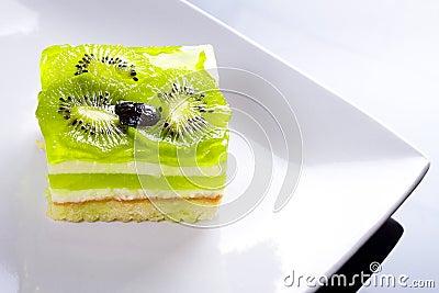 Delicious kiwi cake dessert