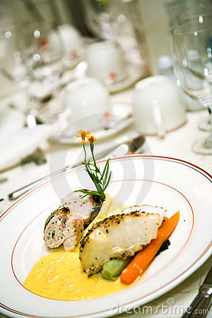 Delicious main course gourmet