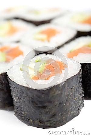 Delicious maki rolls