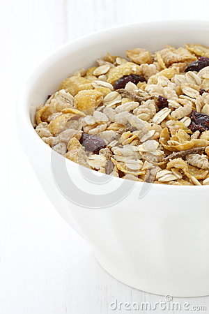 Healthy muesli cereal