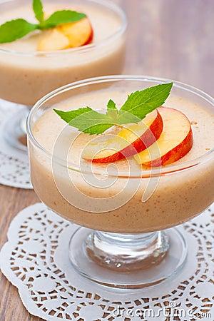 Delicious peach mousse
