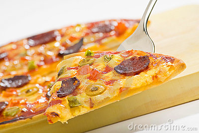 Delicious pizza with natural ingredients