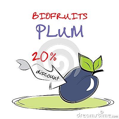 Delicious plum