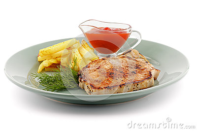 Delicious Pork Steak