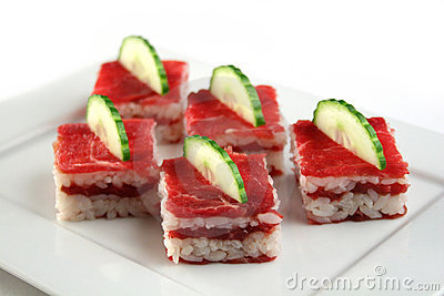 Delicious raw beef