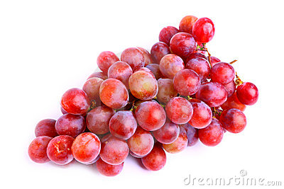 Delicious red grapes