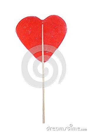 Delicious red lollipop