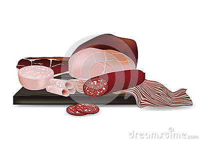 Delicious Sausage & Ham Plate