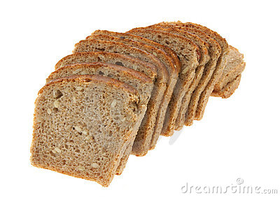 Delicious sliced dark bread