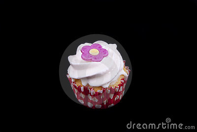 Delicious strawberry flavoured cupcake