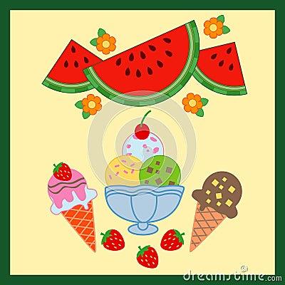 Delicious summer food