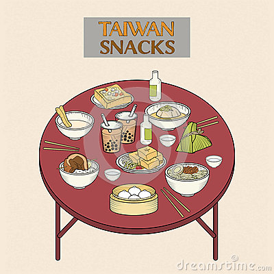 Free Delicious Taiwan Snacks Collection Stock Photo - 59577410