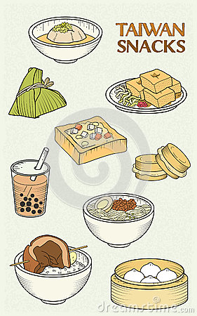 Free Delicious Taiwan Snacks Collection Stock Photography - 59577422