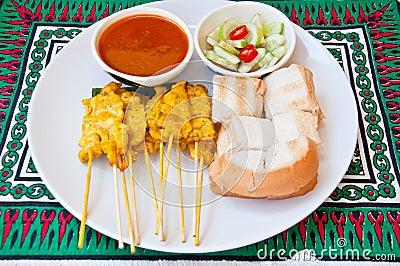 Delicious Thai food call  MOO SATAE