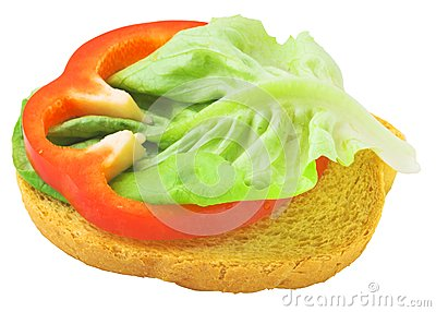 Delicious toast with salad lief