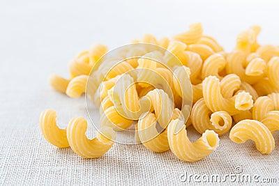Delicious uncooked macaroni