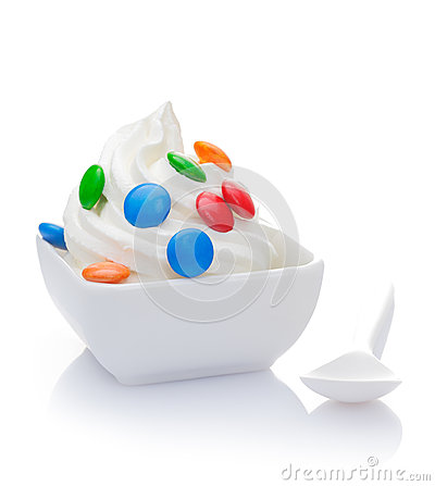 Delicious vanilla frozen Yogurt