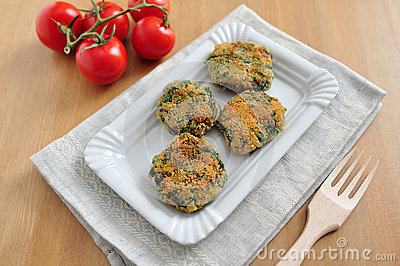 Delicious veggie burger patty