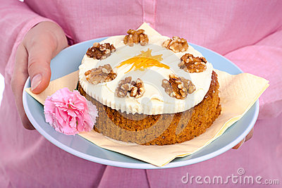 Delicious whole carrot cake