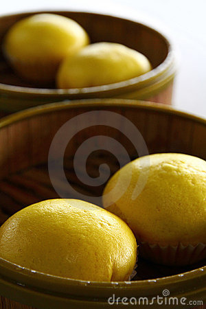 Delicious Yellow Oriental Custard Buns