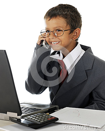 Delighted Young Businessman