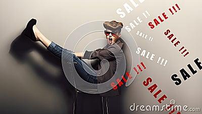 Delightful shopper,eve xmas sales concept. Fantasy