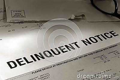 Delinquent due notice past