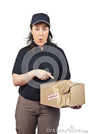 Delivering a damaged package
