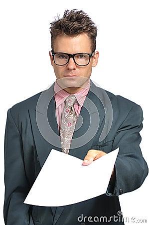 Delivering a paper