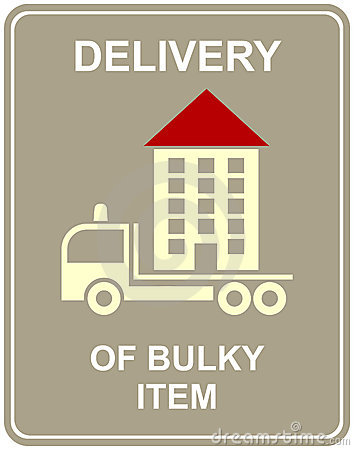 Delivery of bulky item