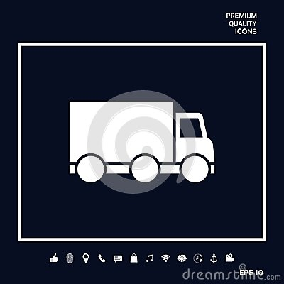 Free Delivery Car Icon Royalty Free Stock Photos - 119457388