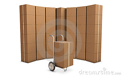 Delivery cart and group of card boxes