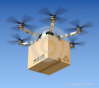 Free Delivery Drone Royalty Free Stock Photos - 36097648