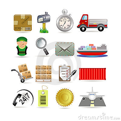 Free Delivery Icon Set Royalty Free Stock Images - 15824039
