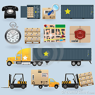 Free Delivery Icons Set Royalty Free Stock Images - 17859849