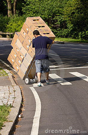 Free Delivery Man Stock Image - 19995701