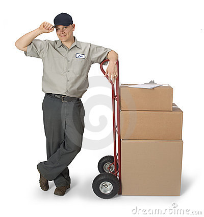 Free Delivery Man Royalty Free Stock Images - 5123169