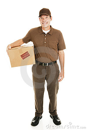 Free Delivery Man Full Body Stock Image - 11654471