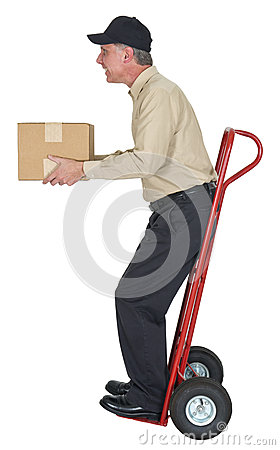 Free Delivery Man, Moving, Freight, Shipping, Package Royalty Free Stock Photos - 26627438