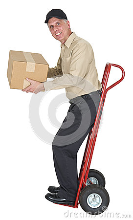 Free Delivery Man, Moving, Freight, Shipping, Package Royalty Free Stock Image - 26633916