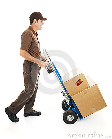 Free Delivery Man Side View Royalty Free Stock Photos - 11654478