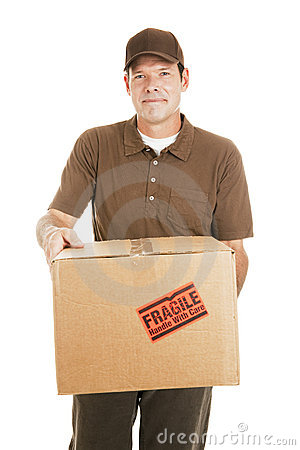 Free Delivery Man With Package For You Royalty Free Stock Photography - 13047447