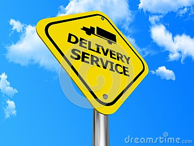 Delivery service sign