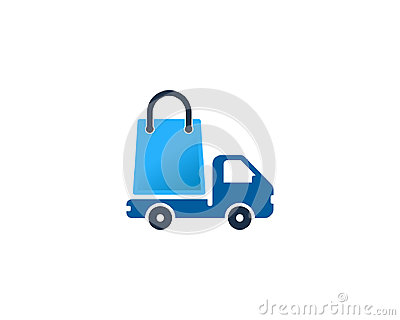 Delivery Shopping Icon Logo Design Element Vector Illustration