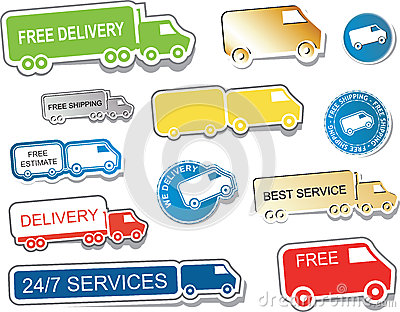Delivery Sign Stickers