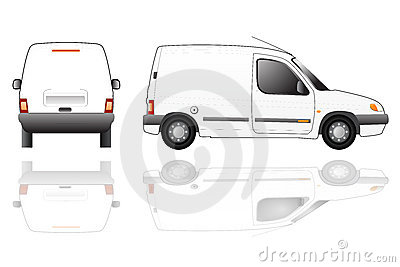 Delivery van isolated vector