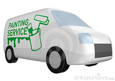 Delivery van painting service